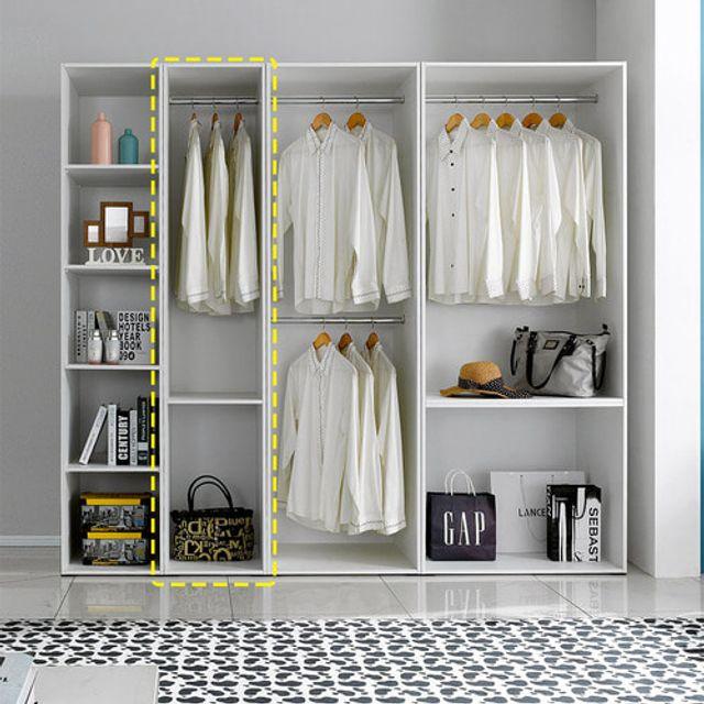 오픈형 틈새옷장 400 거실 침실 수납장 옷장 드레스룸
