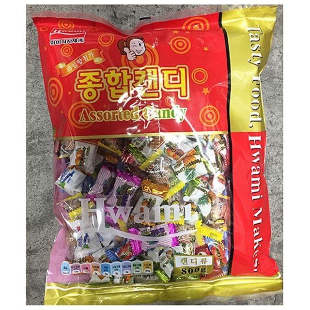 화미 맜있는 종합 사탕 업소용 800g 10봉