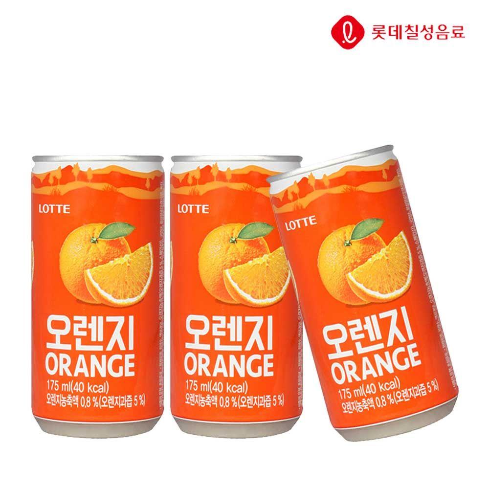 오렌지 175ml X 30개(업소용) 과즙음료/캔음료/음료