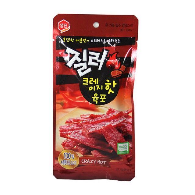 샘표식품 질러(크레이지핫육포)30g 샘표 질러 육포 안주 간식