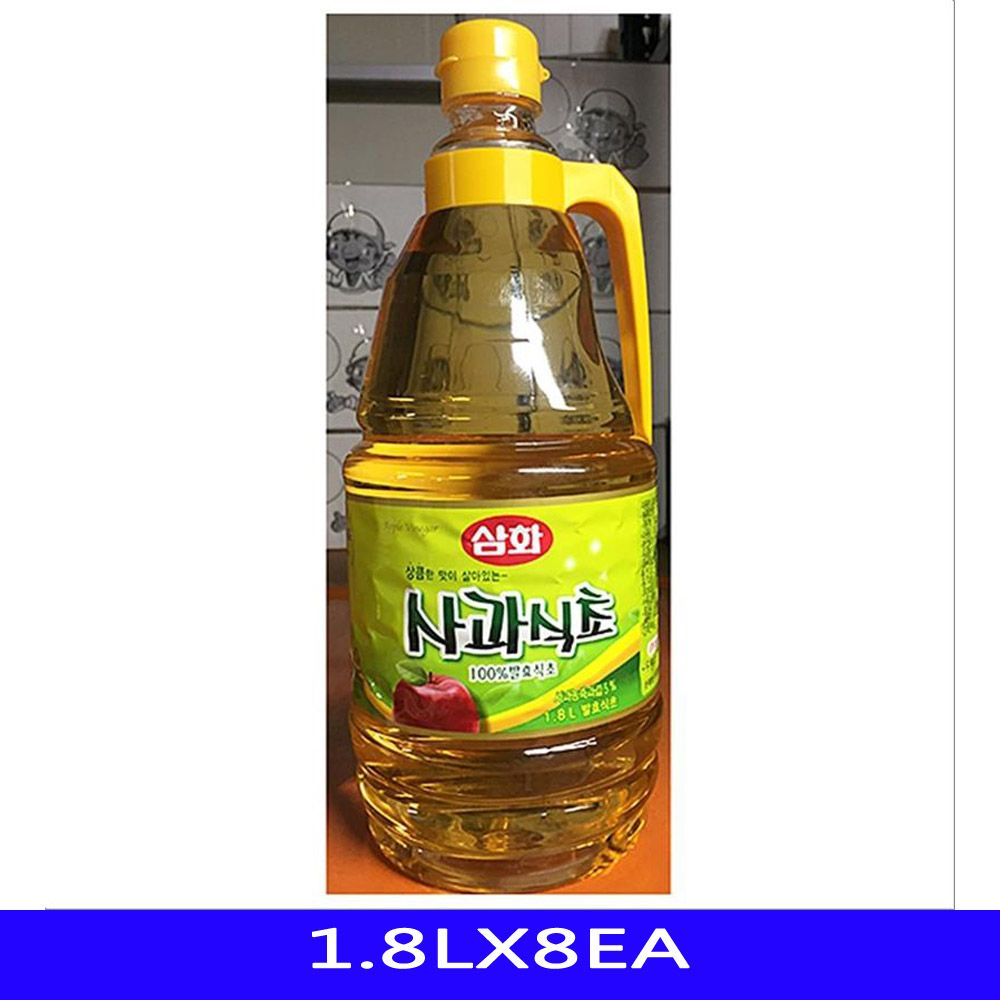 발효 사과 식초 업소용 식자재 유동산업 1.8LX8EA