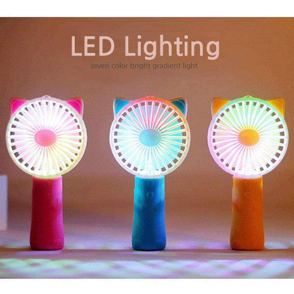 LED 조명 그립감 좋은 휴대용 목걸이 선풍기 모음
