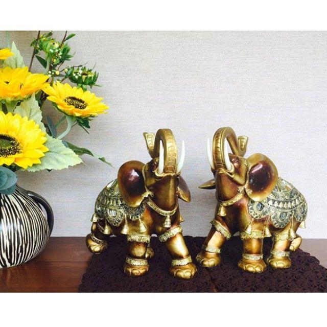 W675995 코끼리 코끼리 엔틱 소품 코끼리 (대) 인형 세트 인테리어 거울 장식