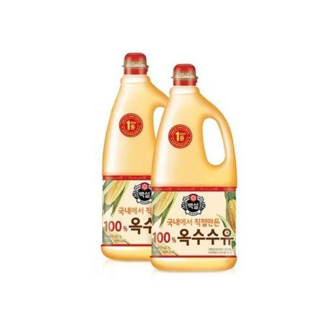 제일제당 옥수수유 1.8리터 옥수 식용유