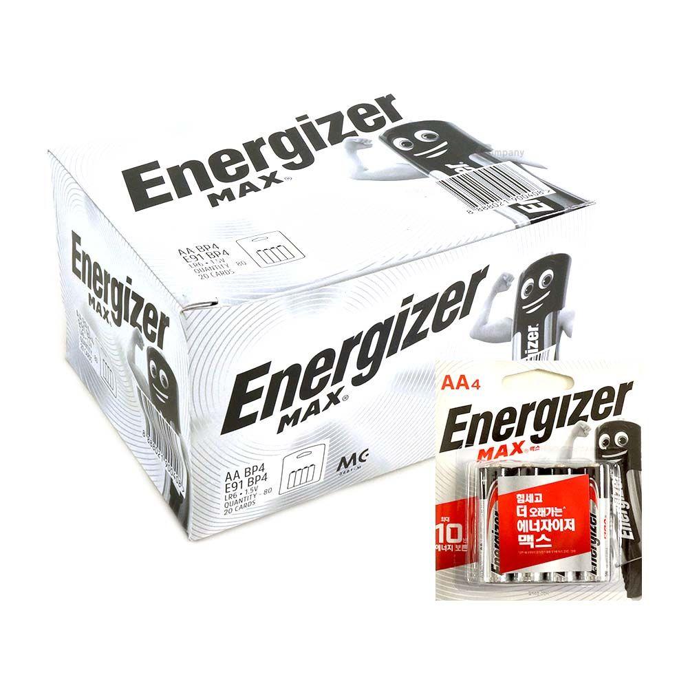 에너자이저 MAX 배터리 AA 1박스 80개입 4P