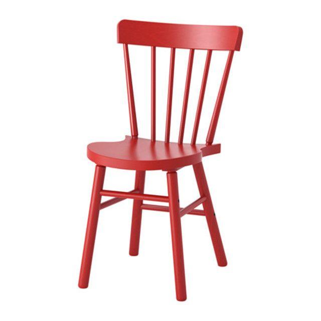이케아 NORRARYD 의자 레드 탁자의자 식탁의자