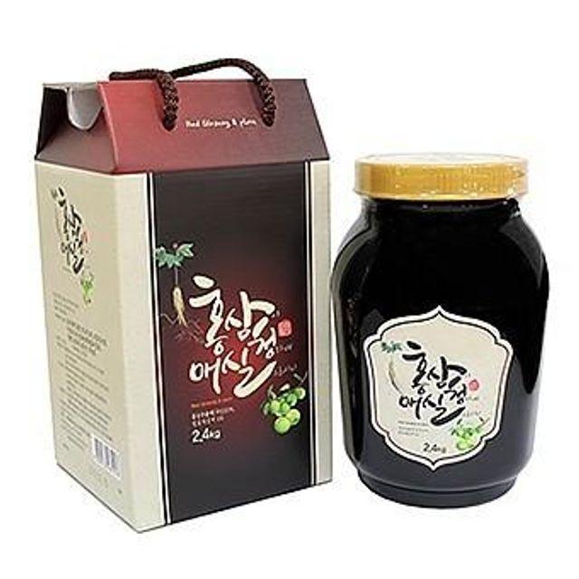 홍삼청매실2.4kg 홍삼추출액10% 발효매실액