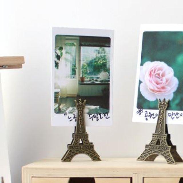 에펠탑 모양 집게 3p 카페 테이블 장식장 꾸미기 용품
