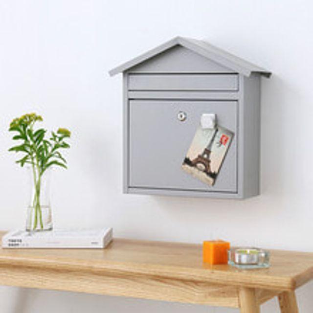 마켓비 PAFAGEL 인테리어 우편함 편지통 라이트그레이