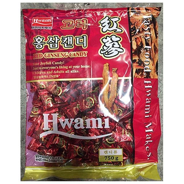 화미 맜있는 홍삼 사탕 업소용 750g 10봉